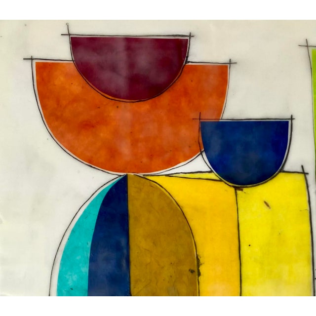 "Contemporary ""Laughter Like Sunshine"" Contemporary Abstract Encaustic Painting by Gina Cochran For Sale - Image 3 of 5"