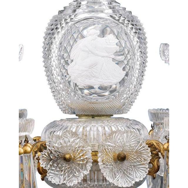 Hollywood Regency Apsley Pellatt Cut Glass Sulphide Centerpiece For Sale - Image 3 of 4