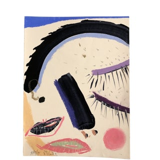Original Contemporary Robert Cooke Abstract Face Painting For Sale