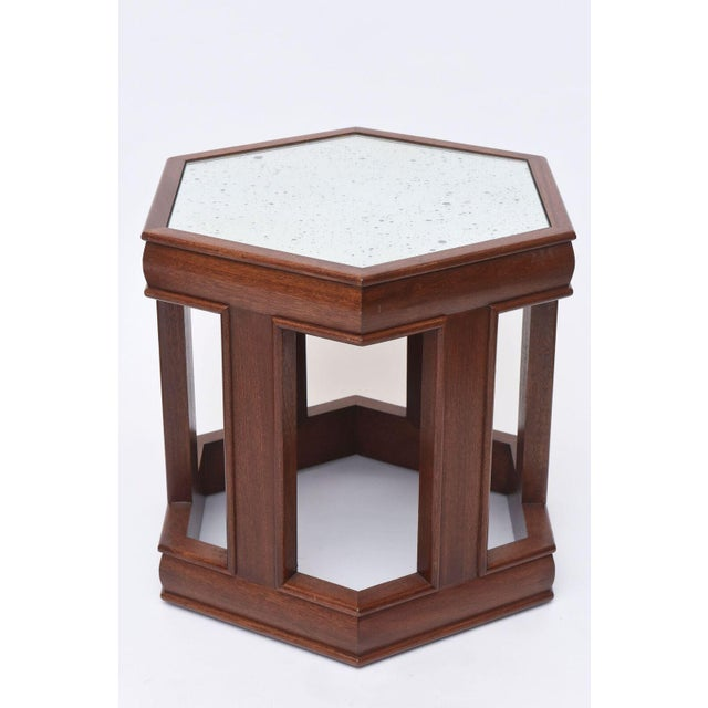 Brown and Saltman Mahogany and Mirrored Occasional Tables For Sale - Image 4 of 9