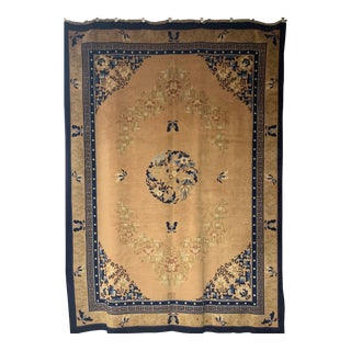 Vintage Chinese Peking Large Area Rug- 8′9″ × 12′ For Sale