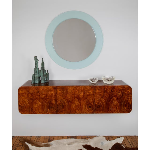 Full Circle Modern Original Round Acrylic Frame Mirror For Sale - Image 11 of 11