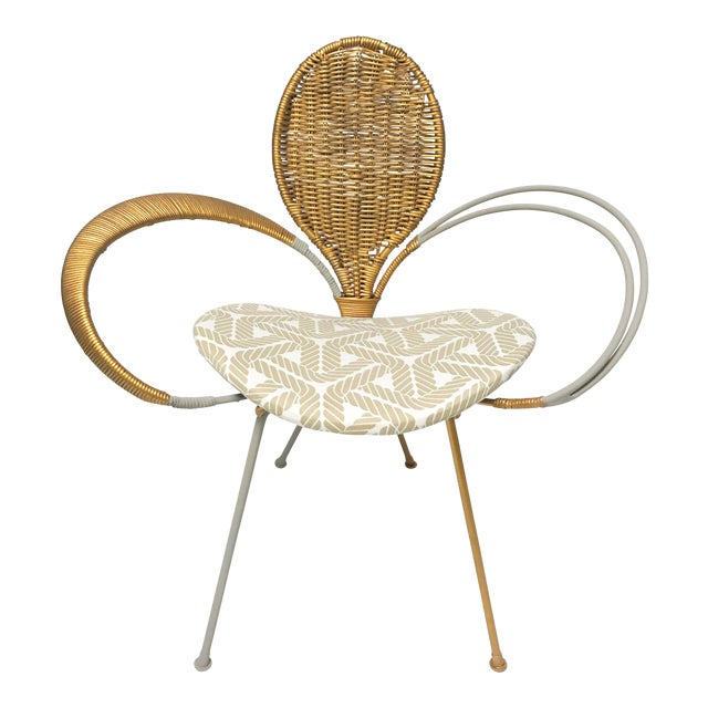 Wrought Iron Accent Chair - Image 1 of 10