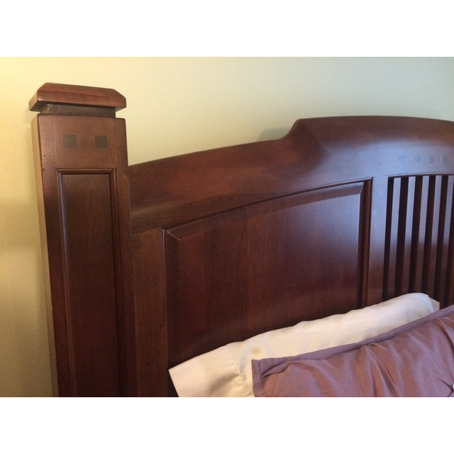 Thomasville Queen Size Cherry Bed - Image 5 of 8