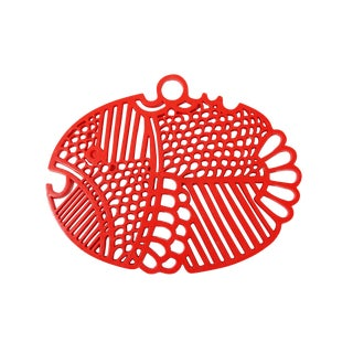 Red-Orange Hanging Fish Trivet by Dansk