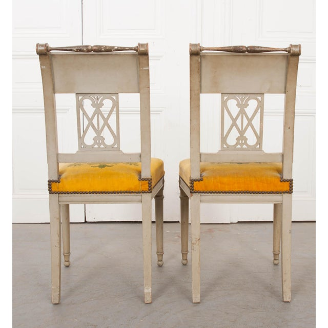 French 19th Century Neoclassical Style Side Chairs - a Pair For Sale - Image 4 of 11