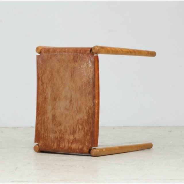 Edsby-verken Edsby-verken Wooden Curved Stool For Sale - Image 4 of 7