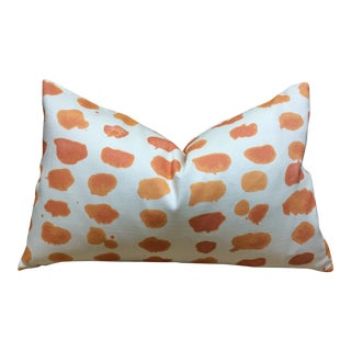 Kelly O'Neal Orange Dot Pillow For Sale