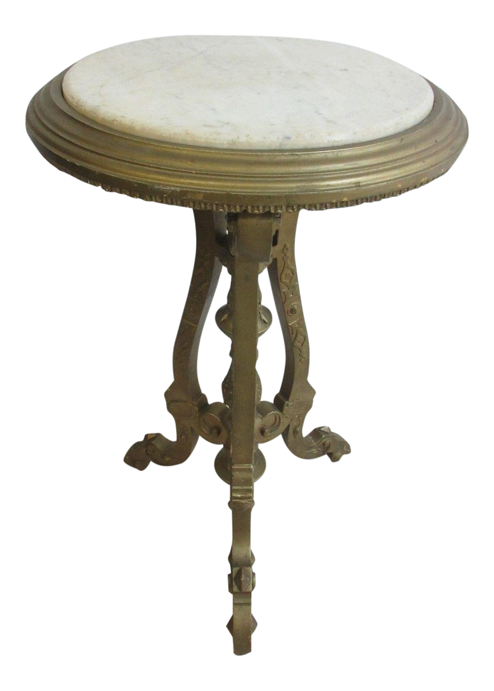 Victorian End Table Antique Victorian Carved Gold Marble Top Lamp End Table Pedestal Clock Stand