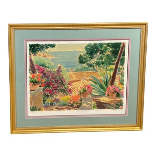 """Garden by the Sea II"" Framed Print by Carlton Penny For Sale"