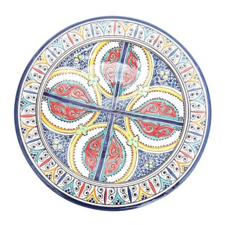 Atlas Large Multicolored Plate For Sale