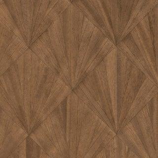 Maya Romanoff Ajiro Fanfare Wood Veneer: Chestnut - Wood Veneer Wallcovering, 24 yds (21.9 m) For Sale