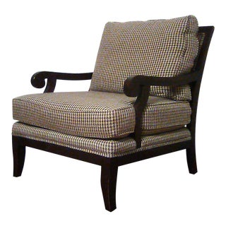 Lillian August Open Wood Frame Club Chair For Sale