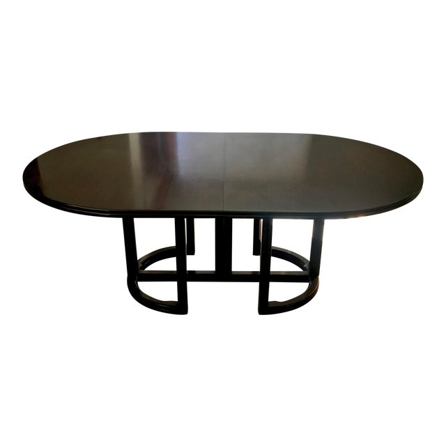 Vintage McGuire Furniture Company Solid Woof Extension Dining Table For Sale