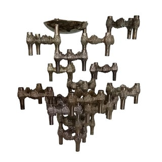 20 Piece Stacking Nagel Candle Holders/Sculpture For Sale