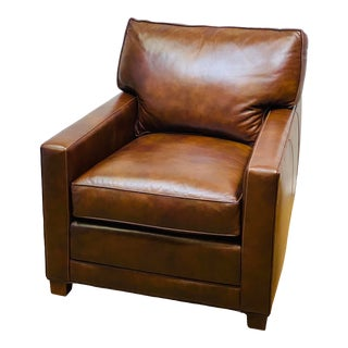 Leather Club Chair by Hancock & Moore For Sale