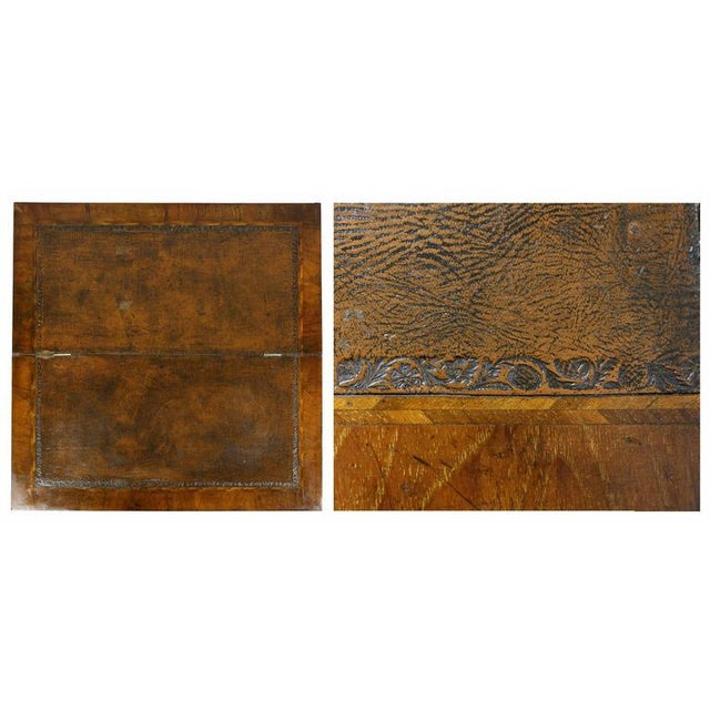 George II Style Burl Walnut Bachelors Chest For Sale - Image 4 of 11
