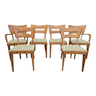 Mid Century Modern Heywood Wakefield Dogbone Dining Chairs - Set of 6