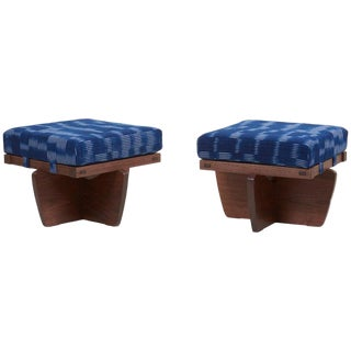 Pair of Greenrock Ottomans by George Nakashima For Sale