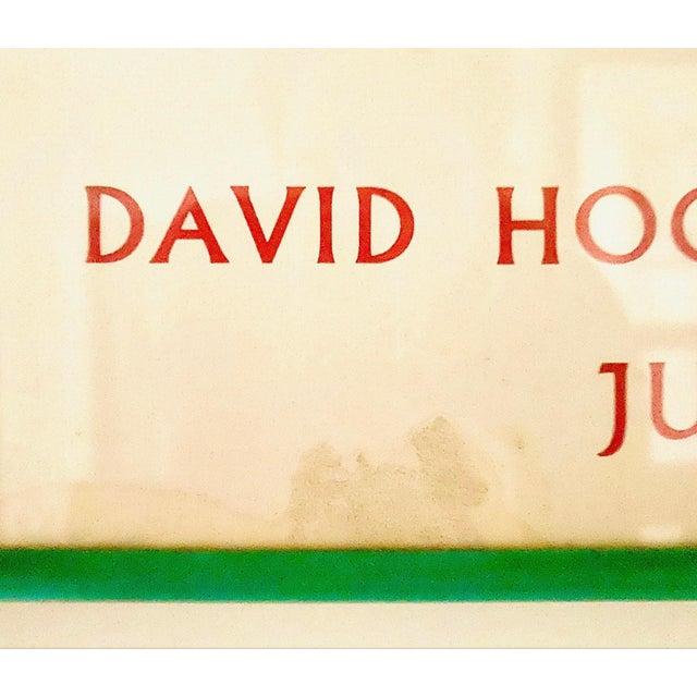 "Metal Original Exhibit Poster ""David Hockney: A Retrospective"" Metropolitan Museum of Art 1988 For Sale - Image 7 of 11"
