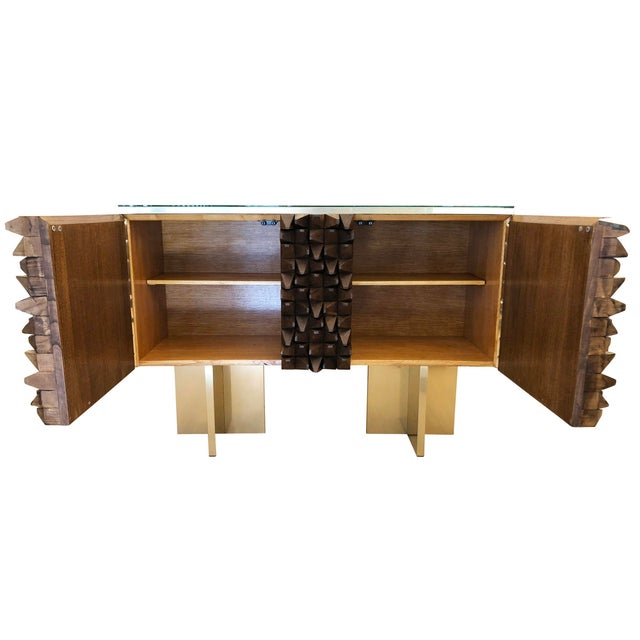 Metal Organic Modern Wood Credenza by Interno 43 for Gaspare Asaro For Sale - Image 7 of 8
