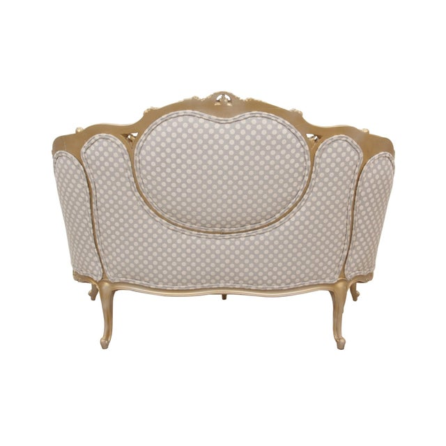 Kate Spade Upholstered Louis XV Style Settee For Sale - Image 4 of 7
