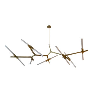 Lindsay Adelman Brass 14 Bulb Agnes Chandelier For Sale