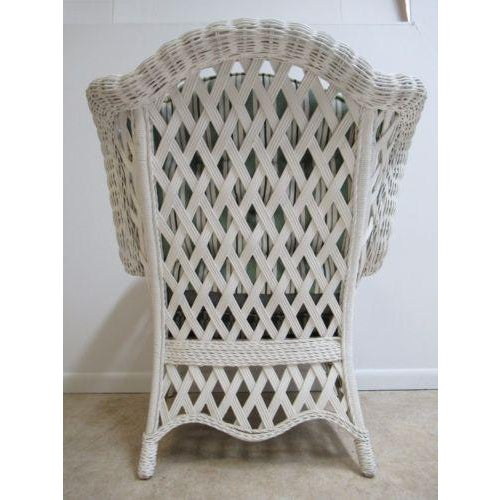 Vintage Custom Wicker Patio Porch Living Room Lounge Chair For Sale - Image 10 of 13
