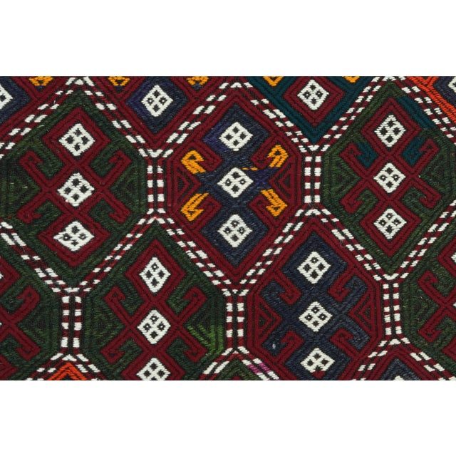 Vintage Turkish Kilim Rug For Sale - Image 10 of 13