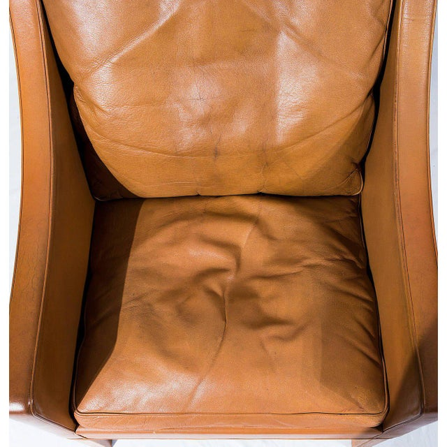 Tan Børge Mogensen Model No. 2207 Leather Lounge Chair For Sale - Image 8 of 9