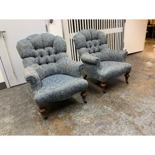 Ethan Allen Redgrave Tufted Arm Chairs - a Pair Preview