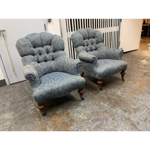 Design Plus Gallery presents a Pair of Ethan Allen Redgrave Tufted Arm Chairs. Petite proportions in a classic silhouette,...