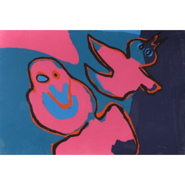 """The Birds Flying Out"" by Karel Appel - Image 1 of 5"