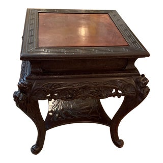 Chinese Square Rosewood Table For Sale