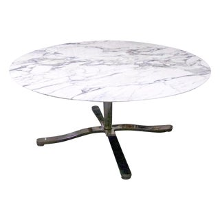 """Nicos Zographos Round Calacatta Marble """"Alpha Dining or Conference Table 2 Avail For Sale"""