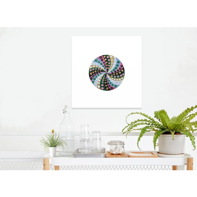 Blue Final Markdown/Contemporary Spiral Painting by Natasha Mistry For Sale - Image 8 of 12
