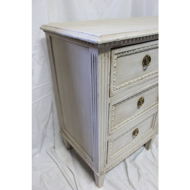 20th Century Nine Door Taupe Oak Gustavian Dresser For Sale In Atlanta - Image 6 of 8