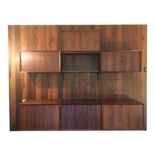 1950's Poul Cadovius Danish Wall Unit For Sale