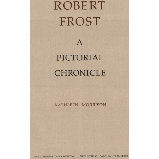 Robert Frost by Kathleen Morrison. New York: Holt, Rinehart and Winston, 1974. 133 pages. Hardcover with dust jacket.