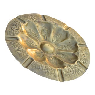 Engraved Moroccan Ashtray For Sale