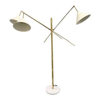 Italian Brass Mid Century Style Floor Lamp For Sale