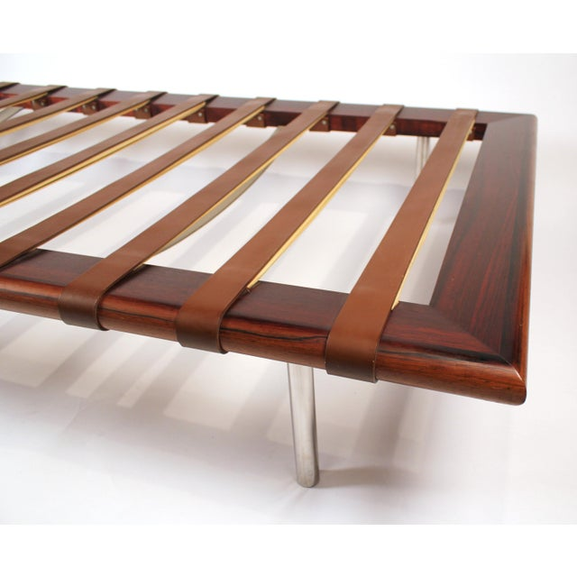 1950s Early Production, Rosewood Daybed Designed by Ludwig Mies Van Der Rohe For Sale - Image 5 of 11