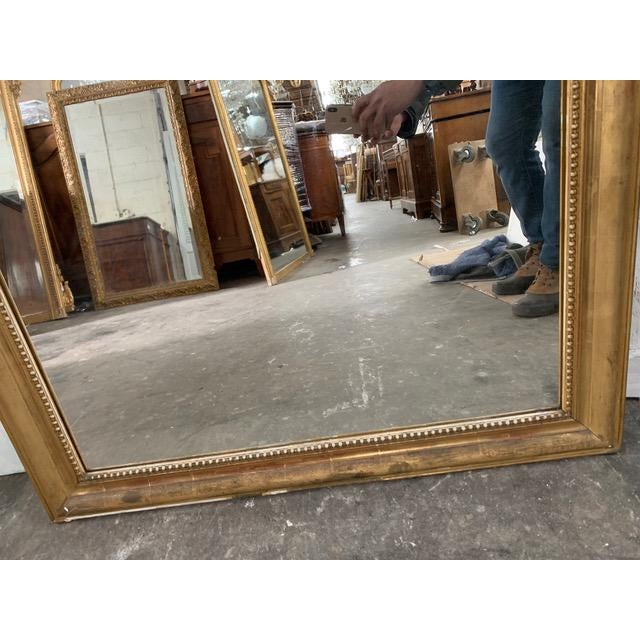 Gold 19th Century Grand Louis Philippe Mirror For Sale - Image 8 of 10