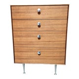 """Image of Mid-Century Modern George Nelson for Herman Miller Walnut """"Thin Edge"""" Chest For Sale"""