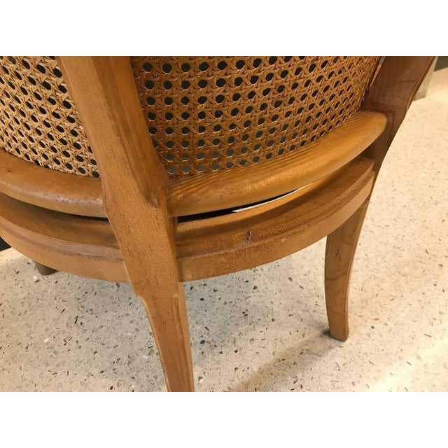 1960s Pair of Neoclassical Style Rams Head Birchwood Bergeres Chairs For Sale - Image 5 of 7