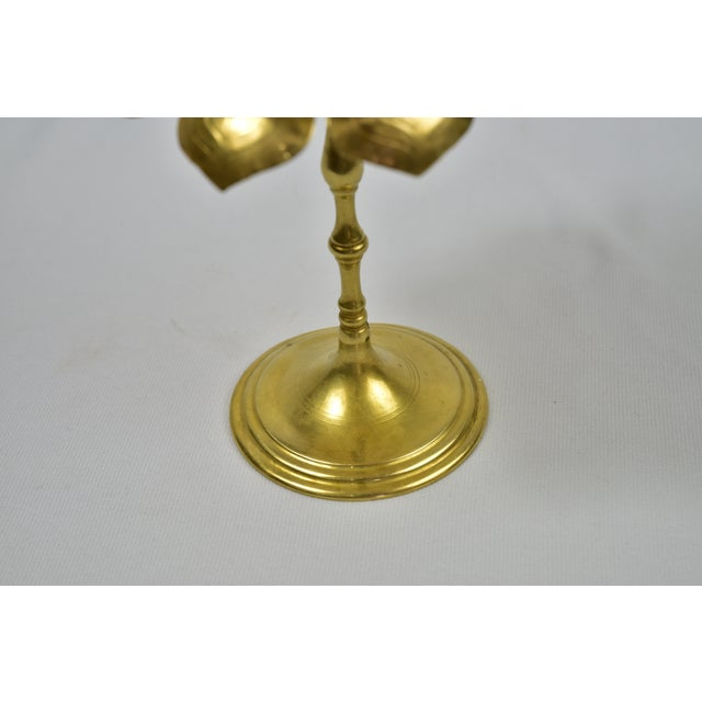 Vintage Feldman Brass Lotus Blossom Candlestick - Image 3 of 11