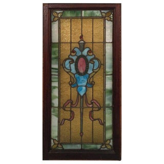 Late 19th Century Vintage Stained Glass Window For Sale