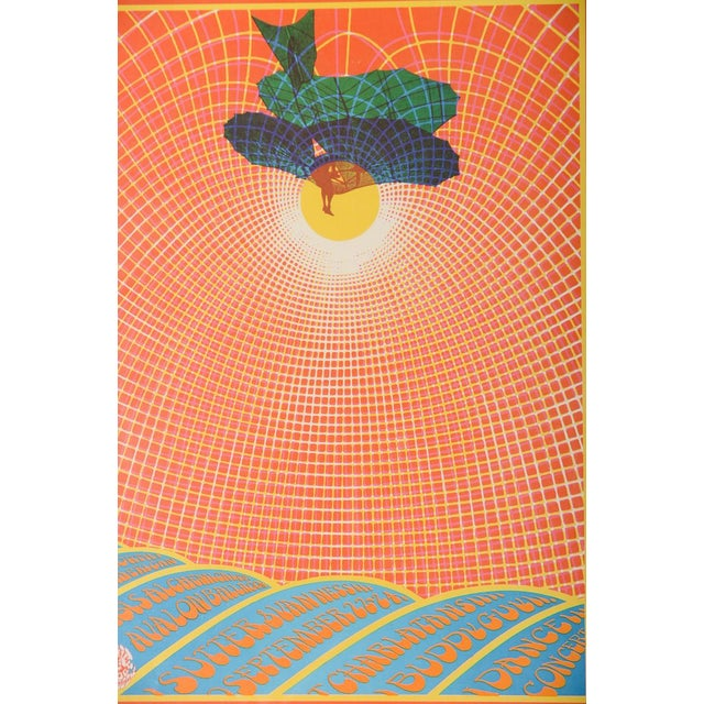Modern Charlatans & Buddy Guy Original 1967 Rock Concert Poster For Sale - Image 3 of 9