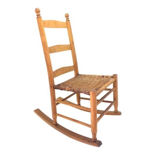 Early 1900's Antique Child's Rocking Chair For Sale
