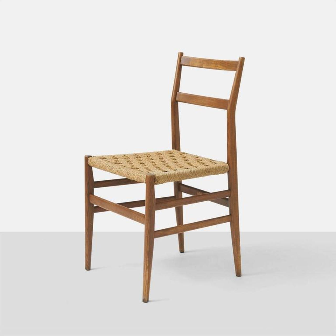 Set Of Eight Leggera Chairs By Gio Ponti For Cassina   Image 5 Of 9
